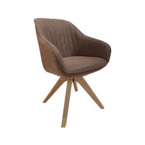 Jídelní židle Viborg, hnědá vintage ekokůže