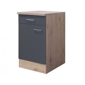 Dolní kuchyňská skříňka Tiago US50, dub sonoma/šedá, šířka 50 cm