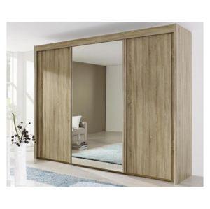 Šatní skrín 3 dverová se zrcadlem š/v/h: ca. 280x223x65 cm