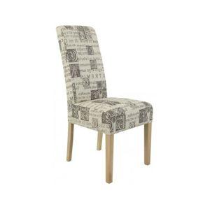 Jídelní židle potah: tkanina, béžová s potiskem