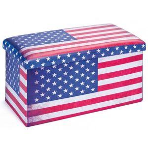 Úložný taburet Setto Stars & Stripes