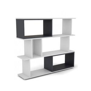 Nízký regál Cubix Mini, bílý/grafitově šedý
