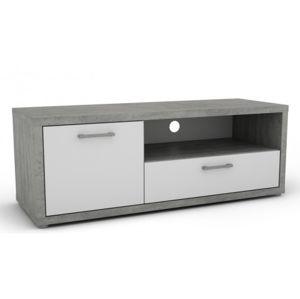 TV stolek - 1 dvere, 1 zásuvka š/v/h: 120x42x44 cm