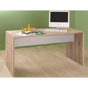 Psací stůl Cariba, dub san remo/bílý